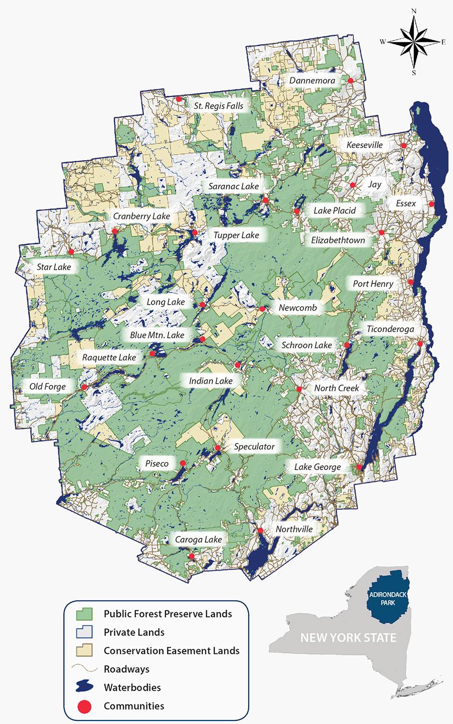 About the adirondack park adirondack council for Best mountain towns to live and work